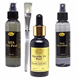 VACOS Glycolic 35 30ml, Pre Peel and Neutralizer Chemical Kit for Skin