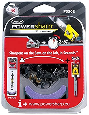 OREGON PS50E 50 Drive Links Powersharp Chainsaw Chain with Sharpening Stone