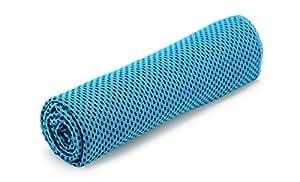 Bioxo Ice, sciarpa bandana, asciugamano rinfrescante per sport all'aperto e al chiuso; per esercizio, allenamento, corsa, hiking, yoga; in morbida microfibra traspirante, rose red