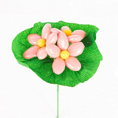 Mazzolino 15 confetti rosa - fiore di confetto - confetti pelino di sulmona