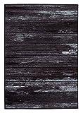onloom Teppich Wood in Holzoptik Gemustert, Robust und Pflegeleicht, Meliert, in 2 Farben erhältlich, Wohnzimmerteppich, Größe:133x190cm, Farbe:Grau
