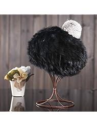 Qiaoba- Mlle Winter lapin laine tricot chapeau béret