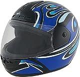 ROADSTAR Integral-Helm Arrow , Dekor Wave, blau, Größe S