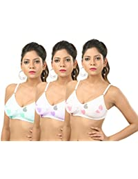 Printed Dots Padded Bra Pack of 3