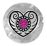 Ginger Snaps HEART OF DIXIE SN01-02 Interchangeable Jewelry Snap Accessory by The Good Bead