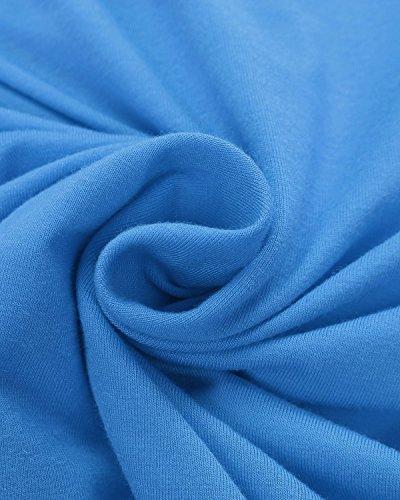 ZANZEA Femmes Sexy Bustier Casual Eté Slim Plissé Froncé Plage épaule Nu Vest Shirt Tube Top Bleu