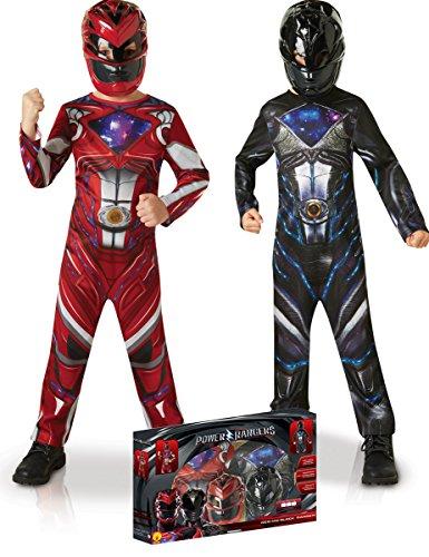 Generique Kostüm Set Power Rangers für Jungen