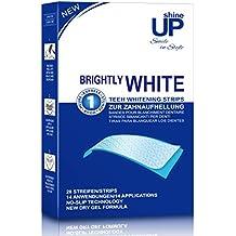 Blanqueador Dental - 28 shineUP Bandas Blanqueadoras Dientes Blanqueamiento de dientes tiras con avanzada tecnología antideslizante - Bright White-Strips Teeth Whitening Strips
