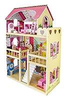 Traumvilla Holzpuppenhaus mit Möbeln, Puppenhaus holz