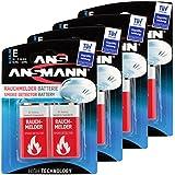 ANSMANN Batterie speziell für Rauchmelder Feuermelder Brandmelder CO-Melder Longlife Alkaline 9V E-Block (8er Pack) 6LR61 6AM6 MN1604 Rauchmelderbatterie 7 Jahre Lebensdauer
