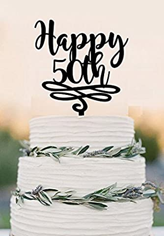 50pour gâteau Happy Birhday/50e anniversaire gâteau/gâteau de mariage Glitter gold/silver and Mirror gold/silver