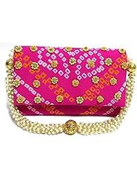 Arisha Kreation Co Pink Ethnic Wedding Partywear Festive Clutch