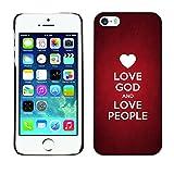 DREAMCASE Citation de Bible Coque de Protection Image Rigide Etui solide Housse T¨¦l¨¦phone Case Pour APPLE IPHONE 5 / 5S - LOVE GOD AND LOVE PEOPLE