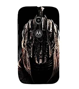 EPICCASE Warrior Helmet Mobile Back Case Cover For Moto E 2nd Generation (Designer Case)
