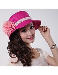 La Sra. domo protector solar sombrero de paja Elegante y peque?o Cap.Playa Cap