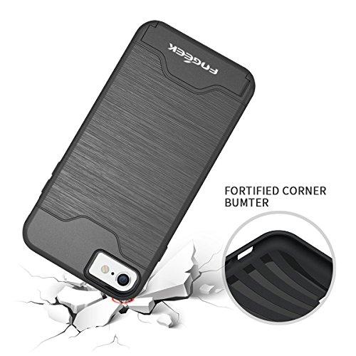 Conque iPhone 6 Plus : FOGEEK Fente pour Carte [Double-Couche Coque] Case pour iPhone 6/6s Plus - Gris Gris