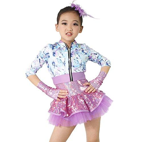 MiDee Hemdchen, Oder So Was Pailletten Rock Tap & Jazz Jacke Tanzen Kostüm (IC, Mehrfarbig) (Tap Dance Kostüme)