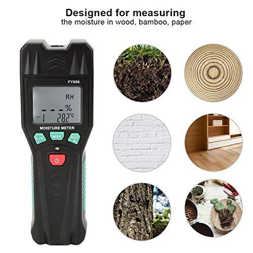 Digitaler Feuchtigkeitsmesser, LCD-Haltegriff für Holzdaten, Feuchtesensor-Tester, Bambus, Papier, Kräuter, Buch, Kartonfeuchtemelder