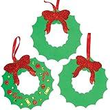 Ghirlande natalizie in gommapiuma per bambini (confezione da 6)
