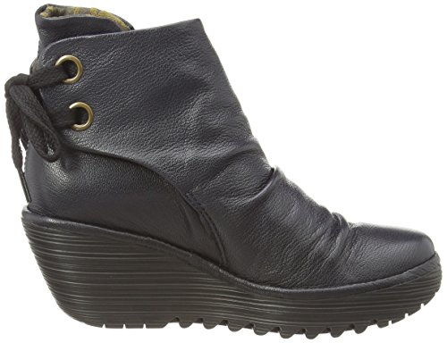 Fly London Yama, Damen Kurzschaft Stiefel Blau (Navy)