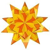 Folia Bascetta Stern Bastelset Duo-Papier 15x15cm, 30-teilig, gelb / orange