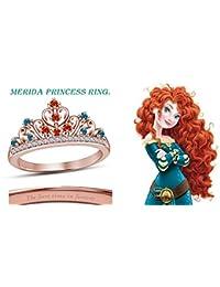 Moda Vorra Multicolor CZ 14 K chapado en oro rosa 925 plata Mérida anillo de la