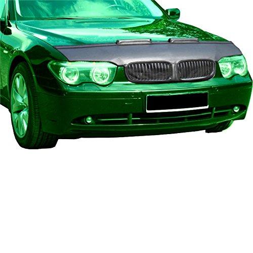 SS69-Bra Parasassi Bonnet Pelle sintetica nera maschera Cappe per auto adatto a BMW E65serie 7, (05-08)