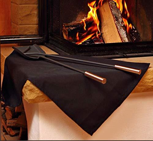 FireMat Black Edition (46x46cm) Die Brandschutz- und Sicherheitsunterlage, Bescheinigt nach DIN EN ISO 11925-2, geeignet für Elektrogeräte in Küchen (Hitzebeständig bis 300 Grad)