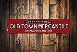 Dozili Old Town Mercantile Panneau personnalisé Dry & Fancy Goods Sign Company...