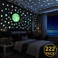 Yosemy Glow in The Dark Stickers,Luminous Dots Stars and Moon Wall Stickers,DIY Stickers,Nursery Wall Stickers,Luminous Sticker,Fluorescent