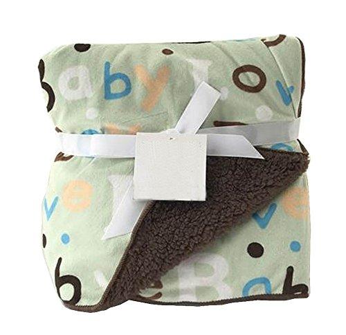 [Lettre verte] Multifonction Soft Velvet Warm Blanket / Lancer pour bébé