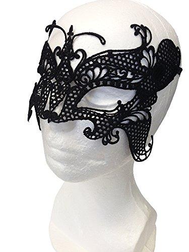 Máscara Seductora de Encaje para Fiestas de Disfraces, Sorprenda de forma discreta, al mismo tiempo que parezca estar maquillada de color negro (Butterfly Lace Mask)