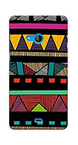 Kaira High Quality Printed Designer Back Case Cover For Microsoft Lumia 540(linepattern)