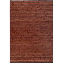 Alfombra de salón o comedor industrial marrón de bambú de 140 x 200 cm Factory - Lola Derek