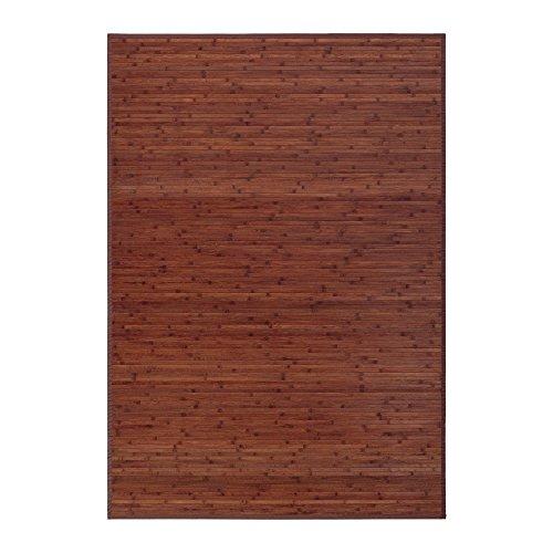 Alfombra de salón o comedor industrial marrón de bambú de 140 x 200