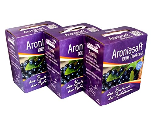 Obsthof Stockinger Aronia Muttersaft Bag in Box Aroniasaft, Sparpaket, 3x 3 l