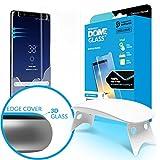 Galaxy Note 8 Protezione schermo vetro temperato,[Tecnica dispersione liquida] 3D Curvo vetro a cupola copertura completa, kit di installazione facile e luce UV della Whitestone