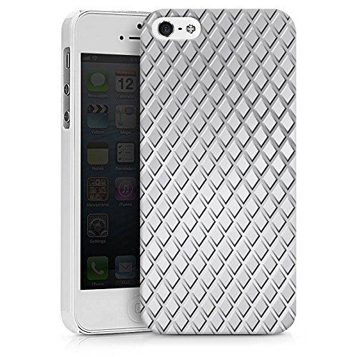 Apple iPhone X Silikon Hülle Case Schutzhülle Stahl Rauten Muster Hard Case weiß