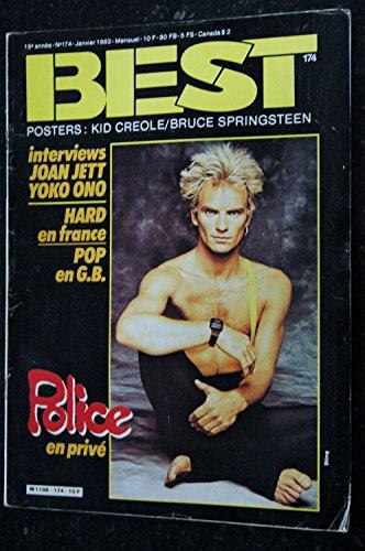 BEST 174 JANVIER 1983 KID CREOLE BRUCE SPRINGSTEEN POLICE JOAN JETT YOKO ONO par Les Trésors d Emmanuelle