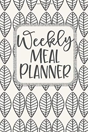 Weekly Meal Planner: 52 Weeks of Menu Planning Pages with Weekly Grocery Shopping List - Modern Leaf