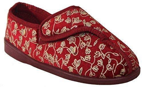 Neuf Femmes Bracelet Velcro Lavable En Machine Coupe Large Diabéthique Orthopédique Chaussures Pantoufles UK Tailles 36-41 eu