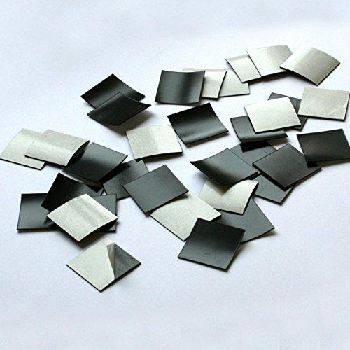 2x2cm Magnet-Plättchen MAGSTICK® | selbstklebend | Art. mag_001 | 100 Stk. | Größe: 2x2 cm (Platte Wand-schild)