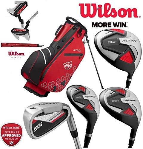 The Golf Store 4u Ltd Wilson Prostaff SGI Herren Golfschläger-Set mit Stahlschaft und Graphitschaft Holz für Rechtshänder