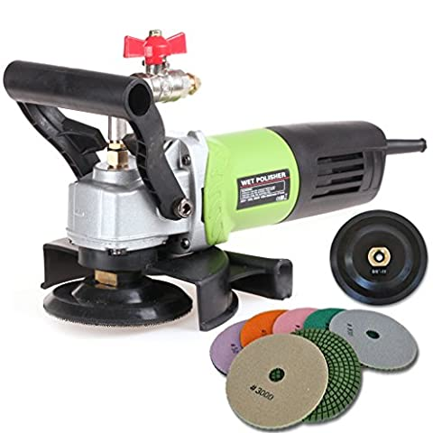 SPTA 230V Wet Polisher / Grinder & Granite Diamond Polishing Pads Pack of 8Pcs