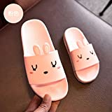 fankou The bathroom has a non-slip bath slippers summer home stay indoor slippers thick soft bottom plastic cute cat cool slippers female ,29, Pink Rabbit