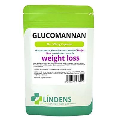 Glucomannan 500mg (Konjac Fibre) 90 Capsules