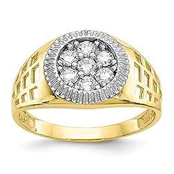 Diamond2deal Anillo de Oro...