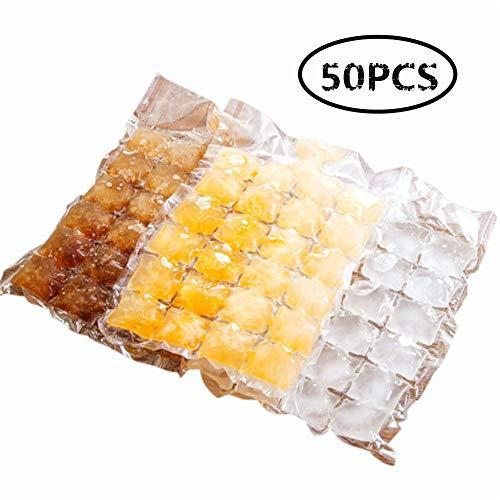 KinderALL Eiswürfel Eiswürfelform Eiswürfelformen Eiswürfelbehälter Eisformschale Lebensmittelqualität für den Gefrierschrank 50 pcs
