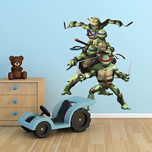 Wall Smart Designs Teenage Mutant Ninja Turtles Tmnt Full Farbe Art Wand Aufkleber Aufkleber Wandbild Mädchen Kinder Schlafzimmer Transfer Print