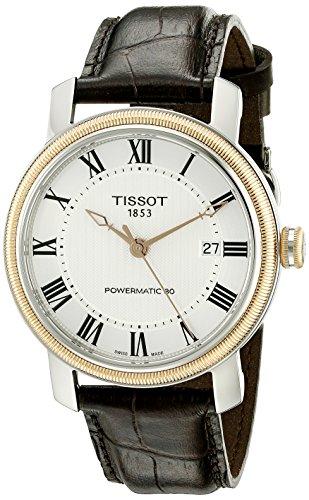 Tissot Herren-Armbanduhr 40mm Armband Leder Schweizer Automatik T0974072603300 - Bridgeport Band